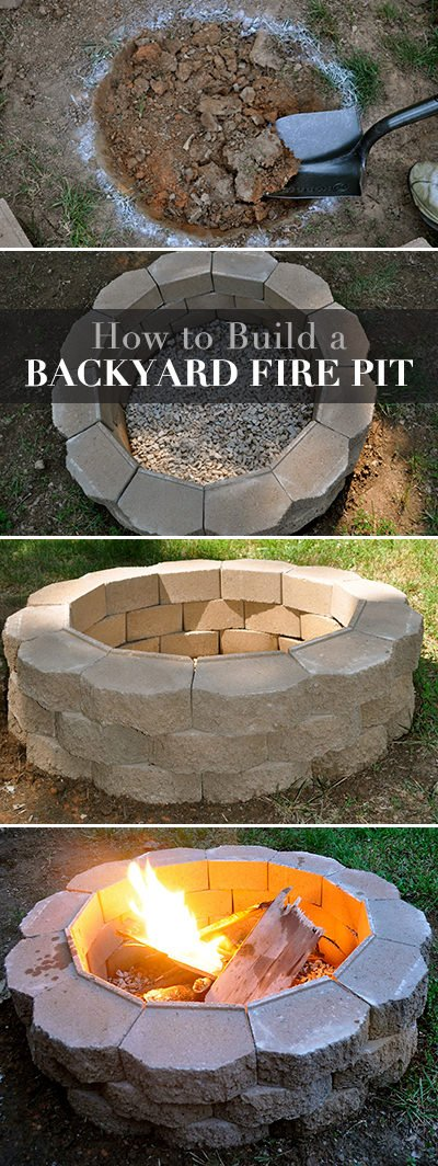 How To Build A Back Yard Diy Fire Pit (it's Easy!) The