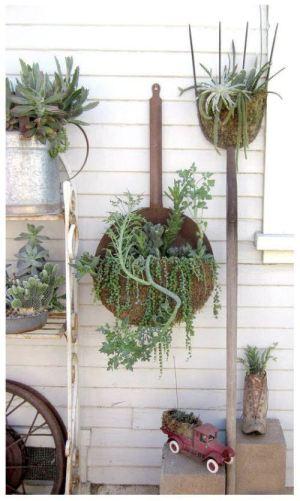 tools as garden art