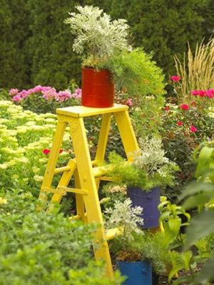 Ladder becomes a focal point