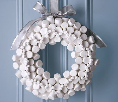 Marshmallow wreath from foodnetwork.com