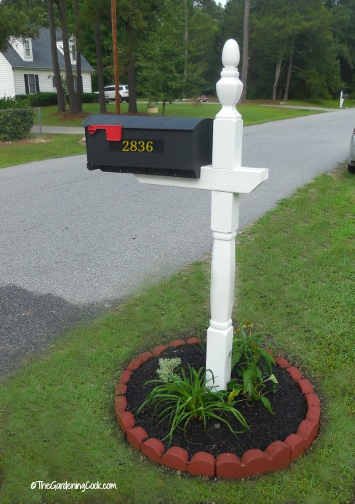 mail box makeover creates curb