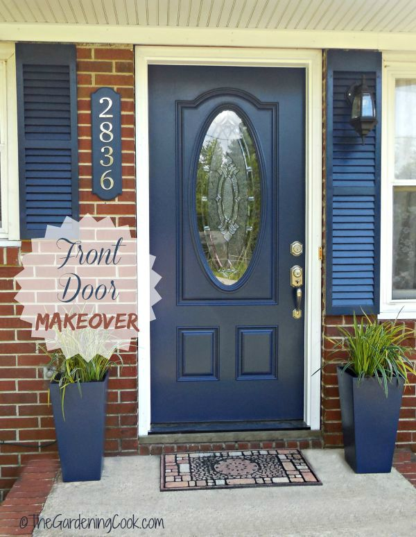 Tips for a Front Door Makeover  Before and After