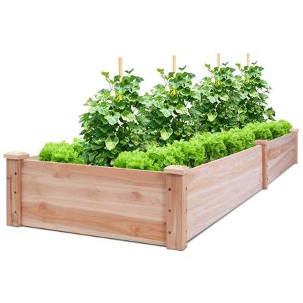 giantex cedar raised garden bed