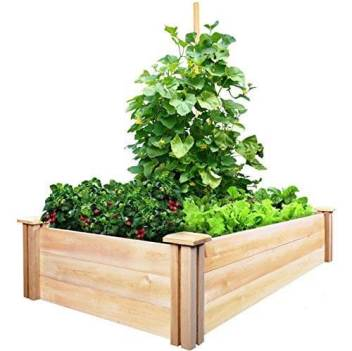 greenes fence cedar raised garden kit