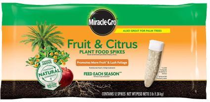 Miracle-Gro Fruit Fertilizer Spikes