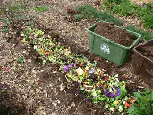 trench compost - winter composting