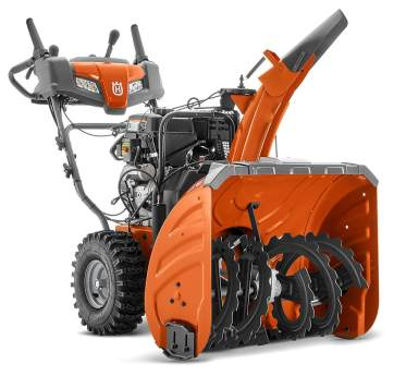 husqvarna two stage electric starter snow blower