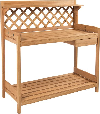 Best Choice Products Wooden Potting Bench