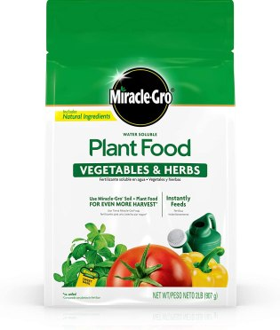 miracle gro water soluble vegetable food
