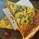 . Roast Butternut and Spinach Quiche with olives