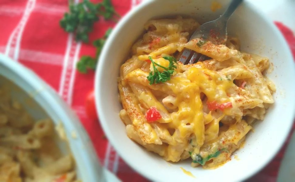 20 minute Spicy Mac and Cheese.