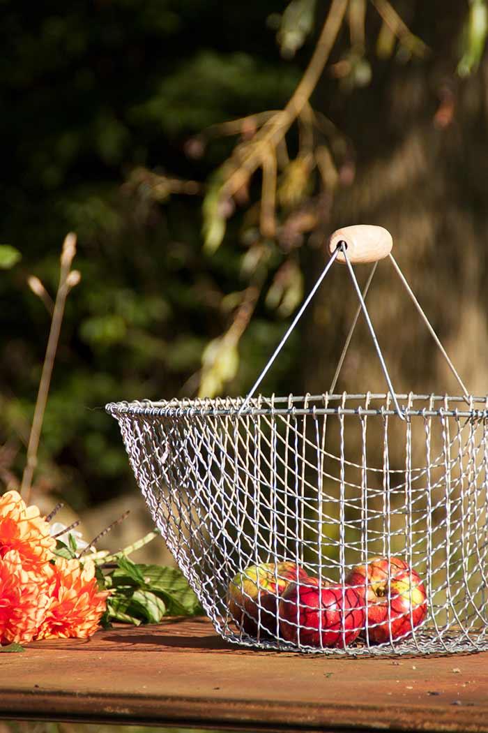 Erntekorb Aus Draht  The Garden Shop