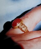 Commission for Hilton Nel, Carnelian stone in 22ct gold.