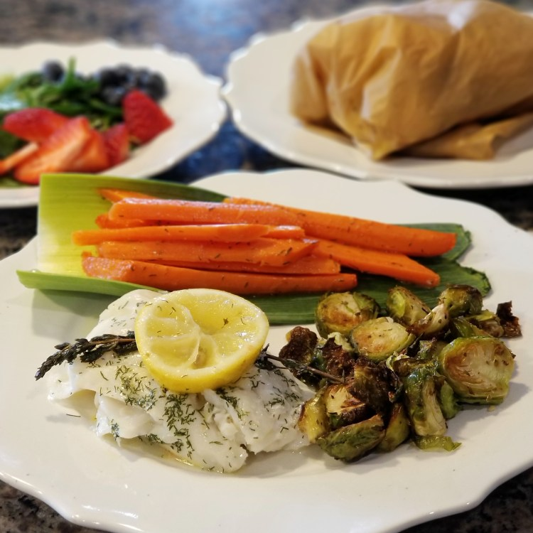 Paleo AIP Dilled Cod and Carrots in Parchment