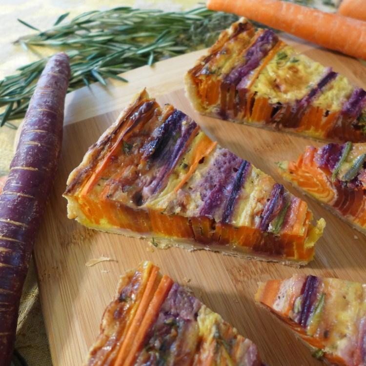 Tri Color Vegetarian Carrot Tart - side view