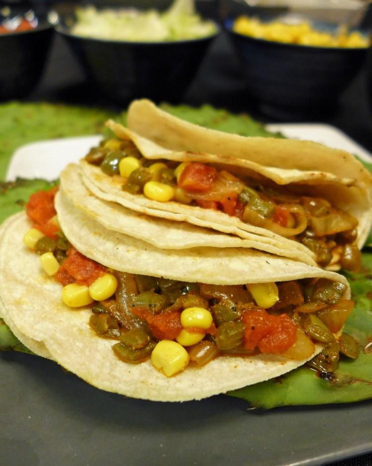 Sparks Vegan Nopales (Cactus Paddle) Tacos
