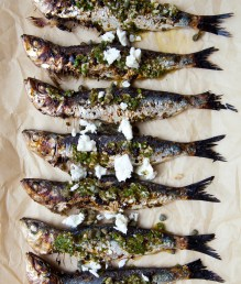 Grilled Sardines with Feta and Salmoriglio -7456