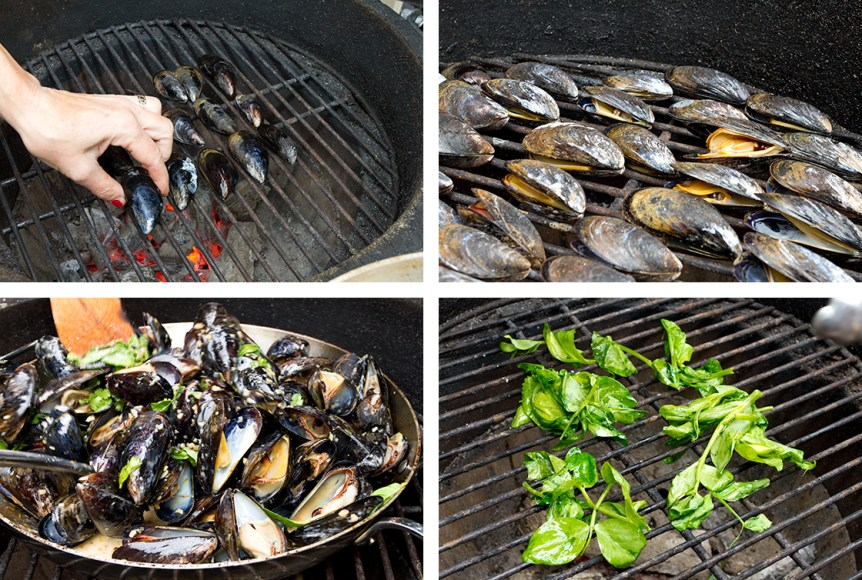 Grilled Mussels with Coconut Curry Broth-10