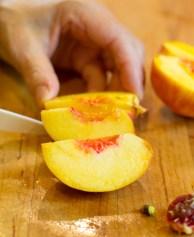 Coconut Yogurt Cake with Roasted Peaches-17