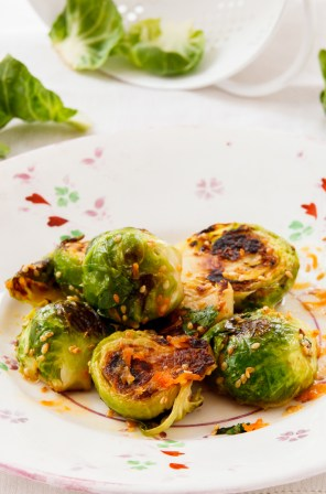 Seared Brussel Sprouts with Vietnamese Dipping Sauce-1