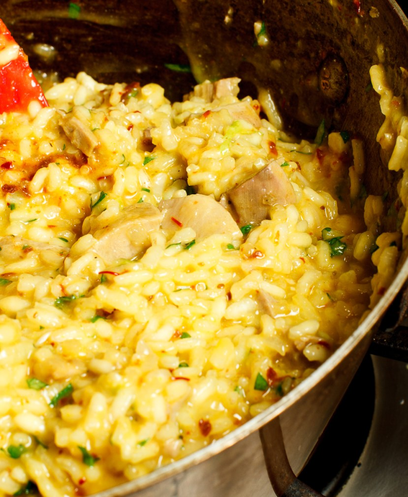 Turkey Risotto with Saffron and Preserved Lemon-11