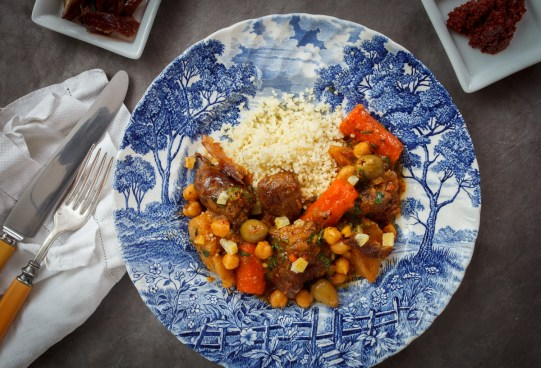 Pressure Cooker Lamb Stew with Chickpeas, Preservred Lemon and Saffron-2