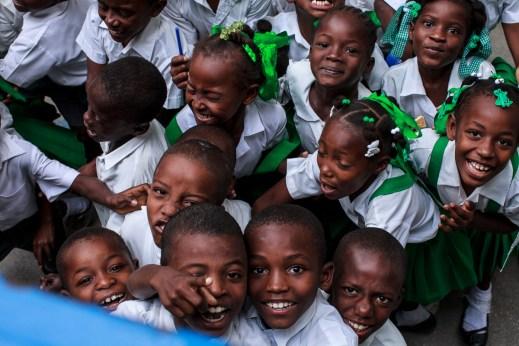 Cange school children.
