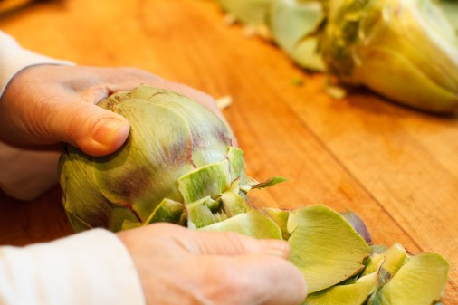 Braised Artichokes TGF - 6