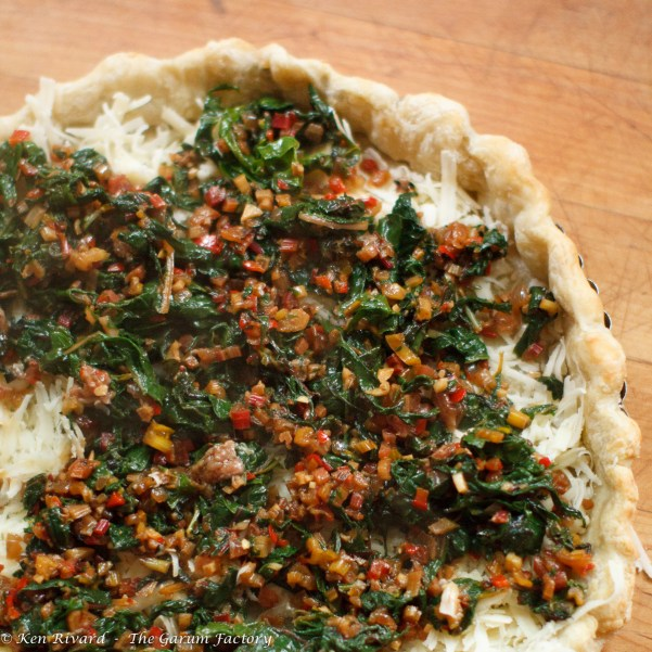 Swiss Chard Tart with Anchovies and Gruyere-8084