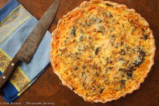Swiss Chard Tart with Anchovies and Gruyere-8151