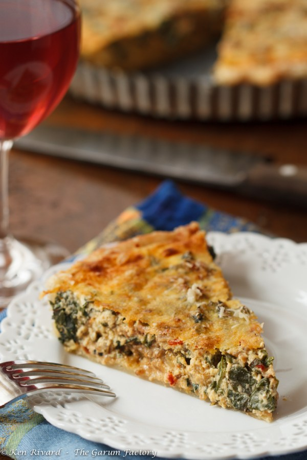 Swiss Chard Tart with Anchovies and Gruyere-8161