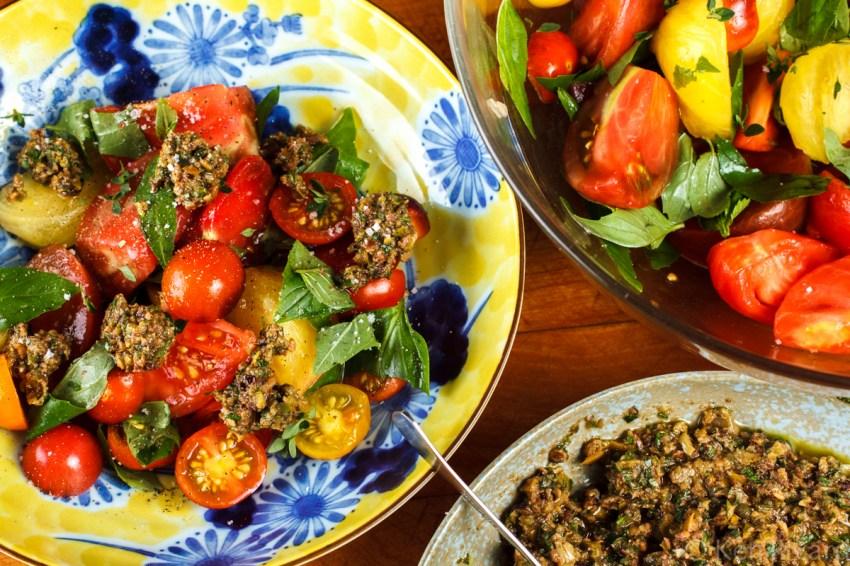 Tomato Salad with Tuna Tapenade-8639