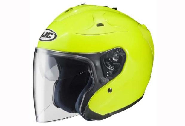 Hi-viz Helmet - HJC FG-Jet Hi-Viz Helmet