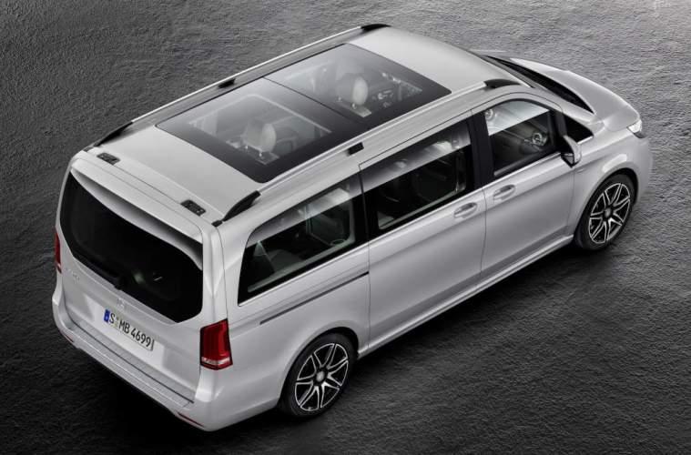 V-Klasse – V 250 d, Exterieur, brilliantsilber metallic, AMG Line; Panorama-Dach V-Class – V 250 d, Exterior, brilliant silver metallic, AMG Line; panoramic roof