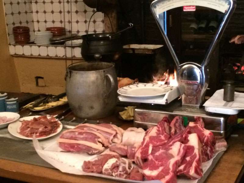 Our selection of meats -