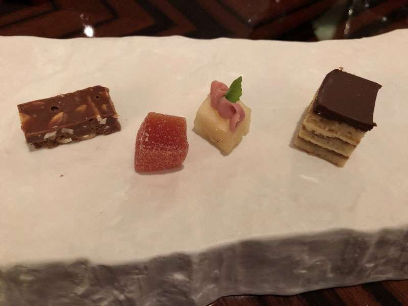 Finally, the selection of petit fours