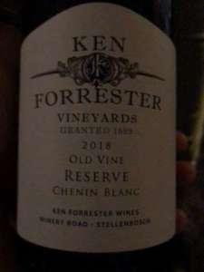 good Ken Forrester Old Vine Reserve Chenin Blanc, 2018, from Stellenbosch, South Africa