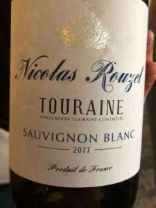 Nicolas Rouzet, Touraine, New Zealand Sauvignon Blanc, 2017