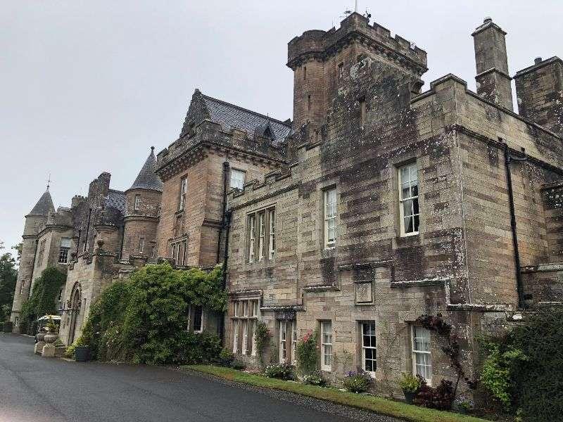 Front entrance to Glenapp Castle