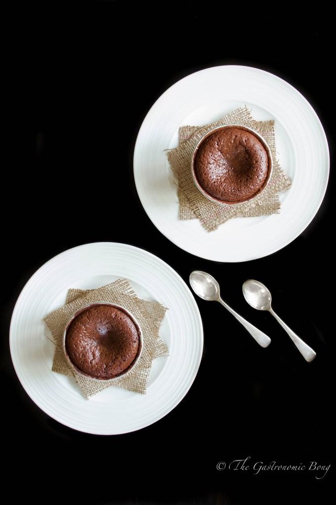 Chocolate-Crunchy Peanut Butter Molten Lava Cake sprinkled with Fleur de Sel1
