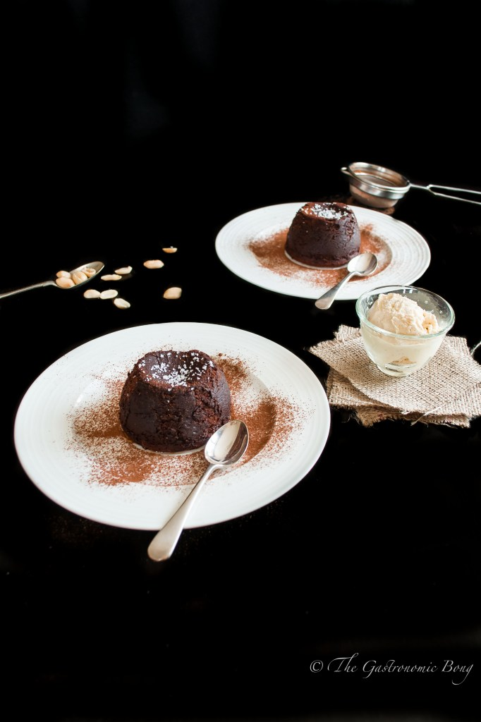 Chocolate-Crunchy Peanut Butter Molten Lava Cake sprinkled with Fleur de Sel2