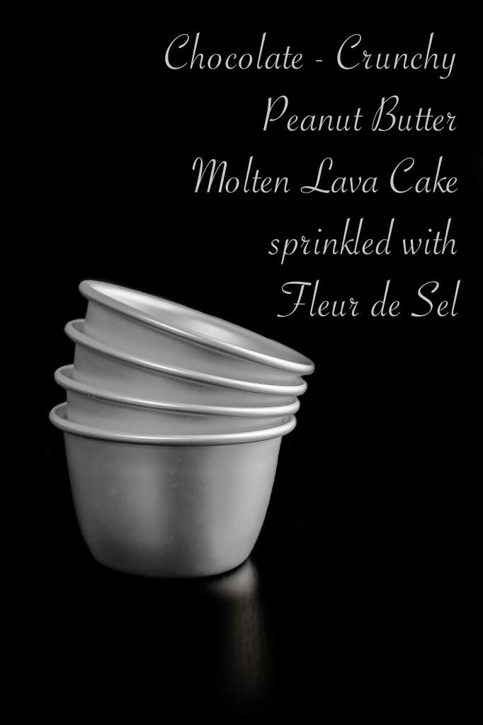 Chocolate-Crunchy Peanut Butter Molten Lava Cake sprinkled with Fleur de Sel5-2