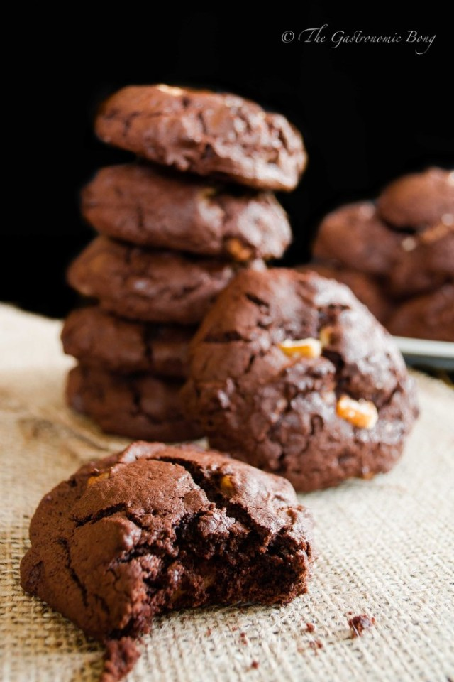 Double Chocolate Brownie Cookies with Walnuts and Candied Orange Peel2