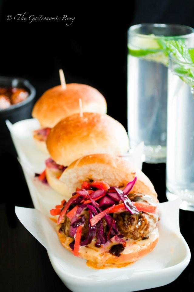 Oriental Meatballs Slider with Kimchi Slaw and Hoisin Mayonnaise5