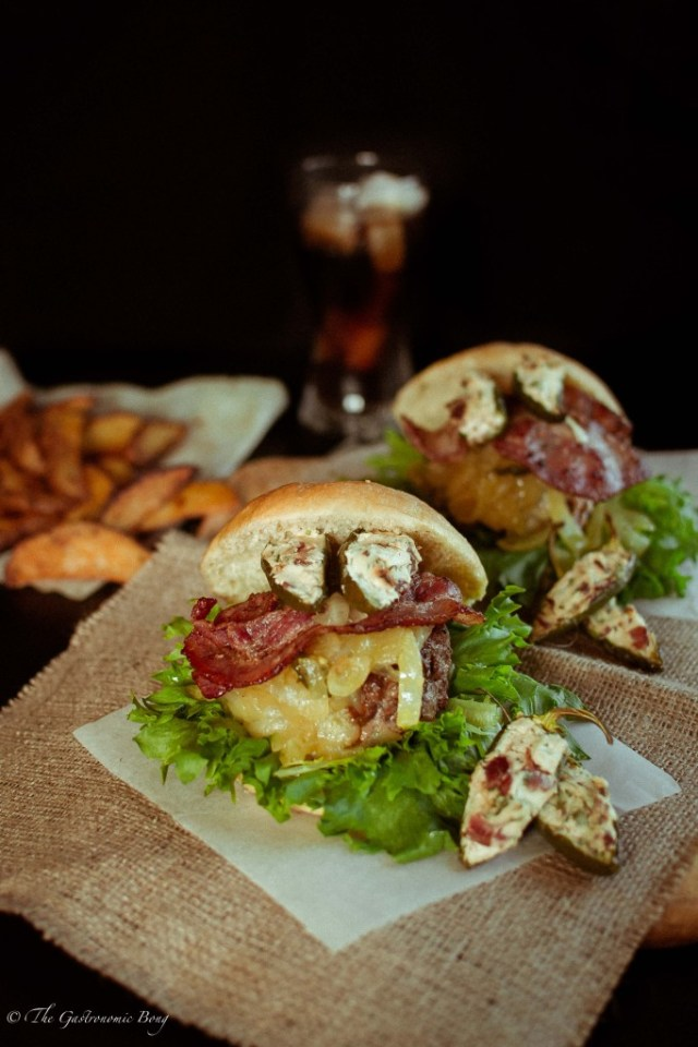 Mexican Chorizo Burger with Cream Cheese and Bacon Stuffed Jalapenos4