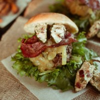 Mexican Chorizo Burger with Cream Cheese - Bacon Stuffed Jalapeno and Manchego cheese