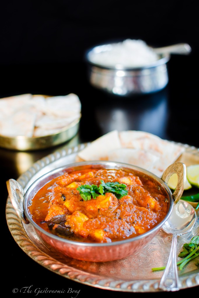 Kashmiri Paneer (Cottage Cheese) in Tomato - Fennel Curry