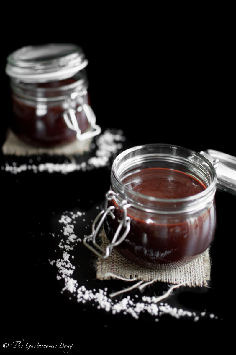 Dark Chocolate Salted Caramel Sauce2