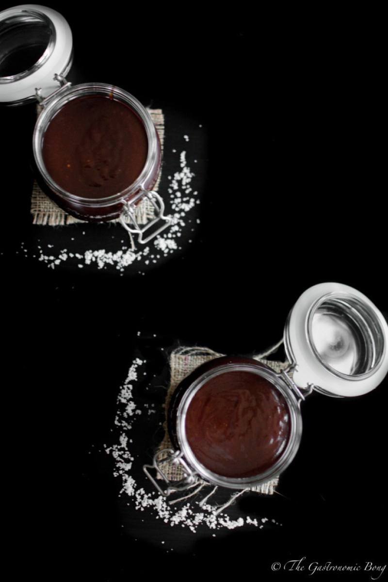 Dark Chocolate Salted Caramel Sauce