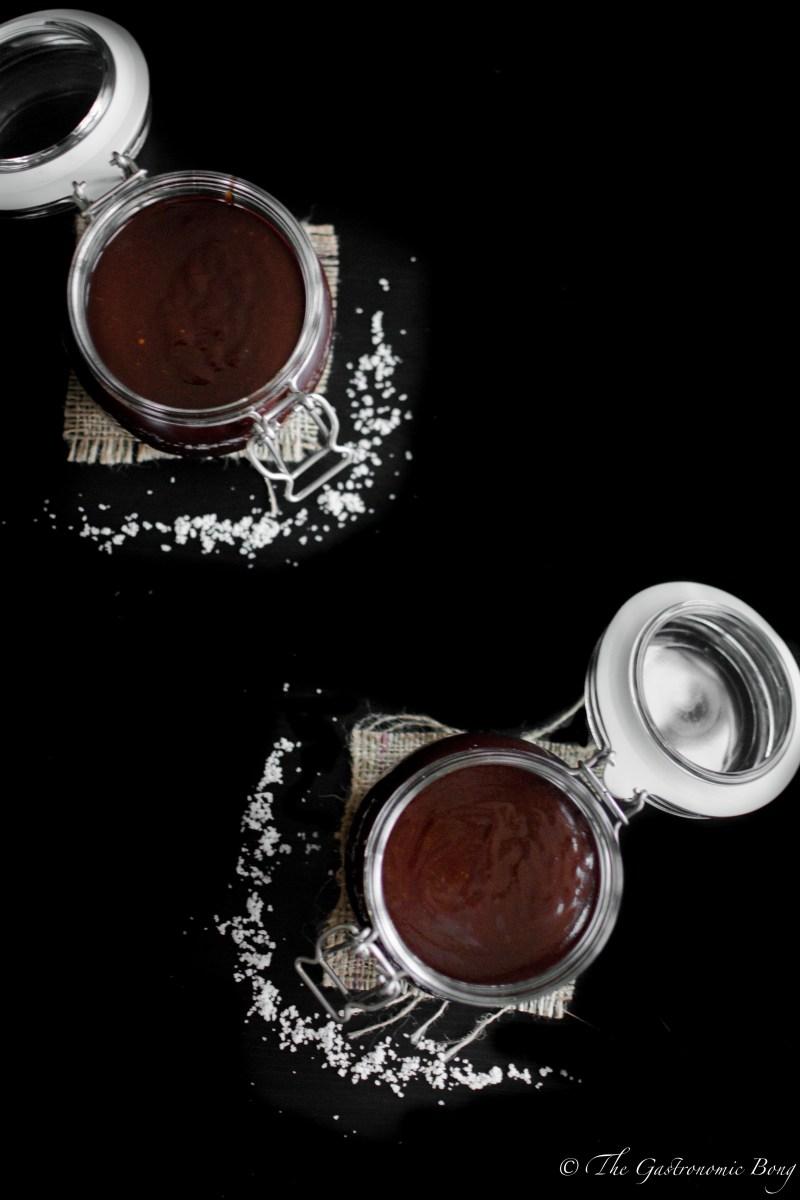 Dark Chocolate Salted Caramel Sauce4